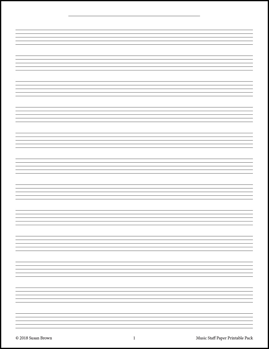 music staff paper printable pack from warm hearts publishing